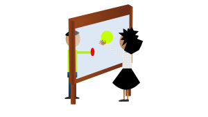 Possible setup of the Interactive Transparent Display in a commercial meeting room